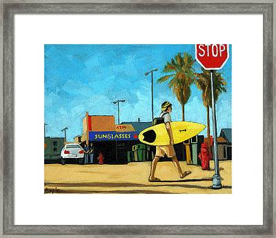 Surf And Turf - Oil Painting Framed Print