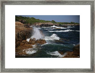 Surf At Biddeford Pool Framed Print