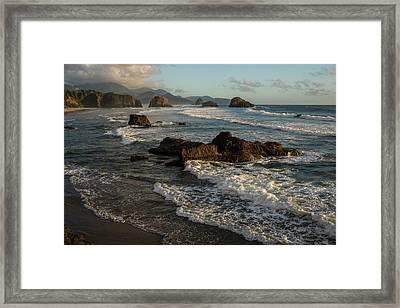 Surf At Crescent Beach Framed Print