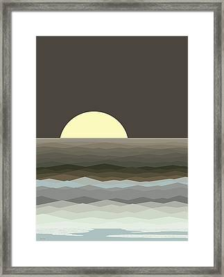Surf At Moonrise Framed Print