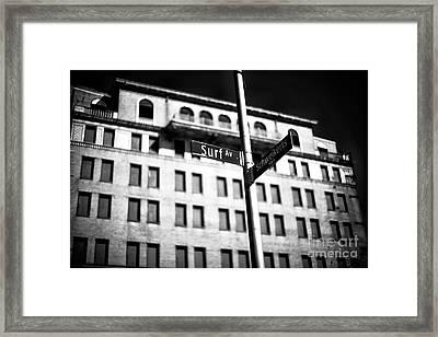 Surf Avenue Coney Island Framed Print