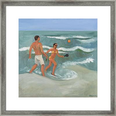 Surf Ball Framed Print