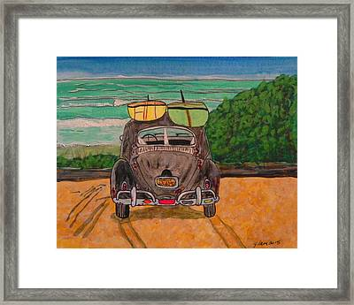 Surf Beetle Framed Print by W Gilroy