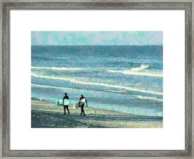 Surf Brothers Framed Print