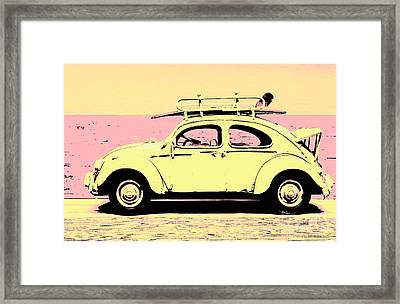 Surf Bug Popart Poster  Framed Print by Jorgo Photography - Wall Art Gallery