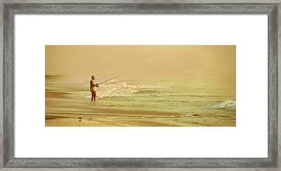 Surf Casting Framed Print by JAMART Photography