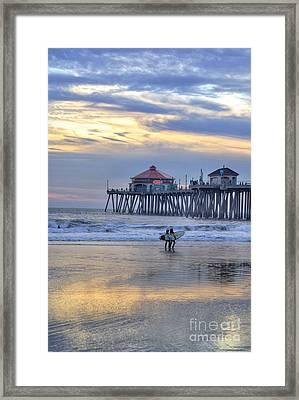Surf City Huntington Beach Framed Print by K D Graves