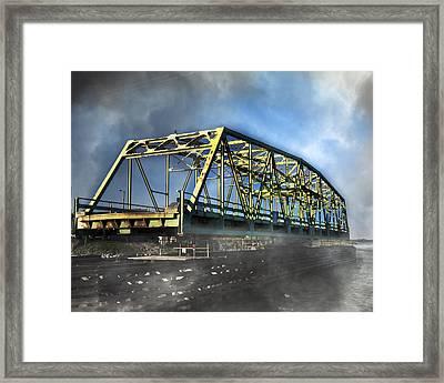 Surf City Nc Swing Bridge Framed Print by Betsy Knapp