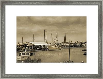 Surf City North Carolina Framed Print by Betsy Knapp