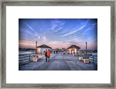 Surf City Pier Framed Print by Spencer McDonald