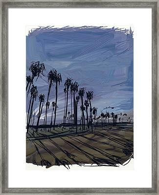 Surf City Framed Print by Russell Pierce