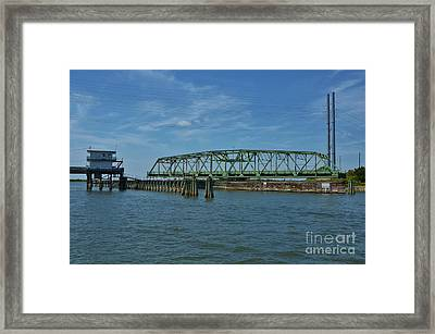 Surf City Swing Bridge - 1 Framed Print by Bob Sample