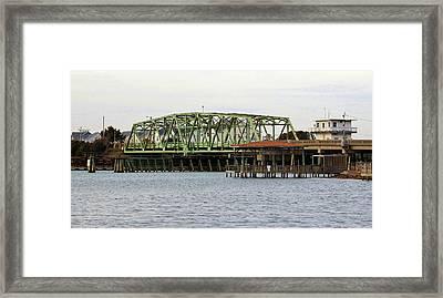 Surf City Swing Bridge Framed Print