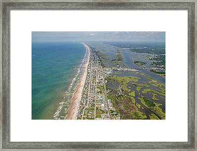 Surf City Topsail Island Longview Framed Print