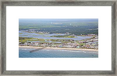 Surf City Topsail Island Sw Framed Print by Betsy Knapp