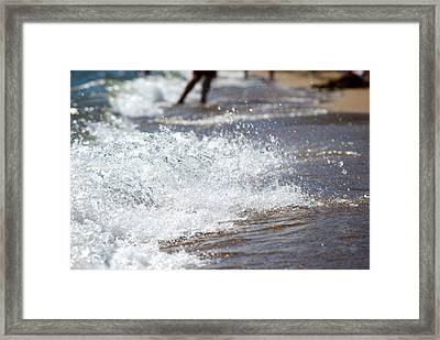 Surf Crashing Framed Print by Lisa Knechtel