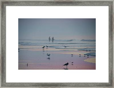 Framed Print featuring the photograph Surf Fishing In Wildwood by Bill Cannon