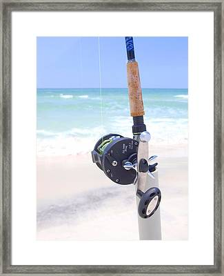 Surf Fishing Framed Print