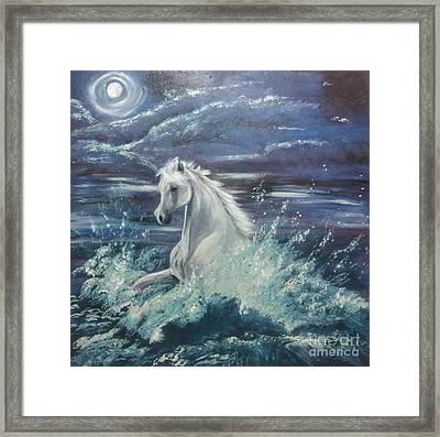 White Spirit Framed Print by Isabella F Abbie Shores FRSA