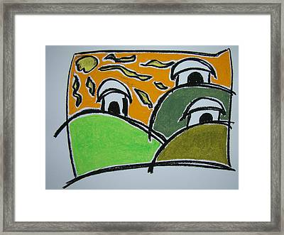 Surf Huts Framed Print by Pat  Lackenbauer
