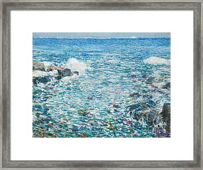 Surf, Isles Of Shoals, 1913 Framed Print