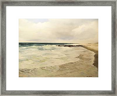 Surf Lace Framed Print by Ken Ahlering