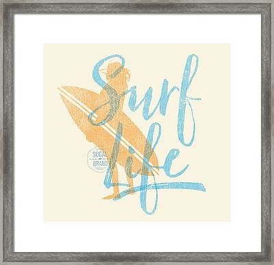 Surf Life 2 Framed Print by SoCal Brand