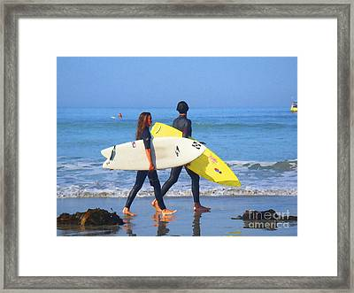 Surf Mates Framed Print by Waterdancer