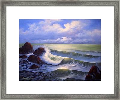Surf Melody Framed Print by Francine Henderson