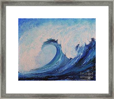 Surf No.2 Framed Print by Teresa Wegrzyn