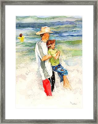 Surf Play Framed Print by Nancy Watson