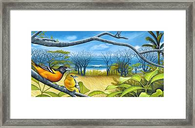 Surf Report Framed Print by Nathan Miller