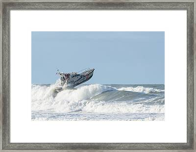 Surf Rescue Boat V2 Framed Print