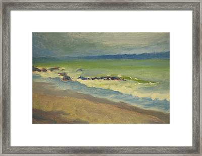 Surf Framed Print by Robert Bissett