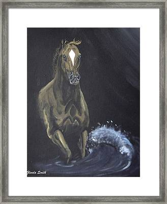 Surf Runner Framed Print by Glenda Smith