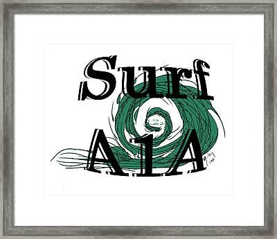 Surf Sign Framed Print