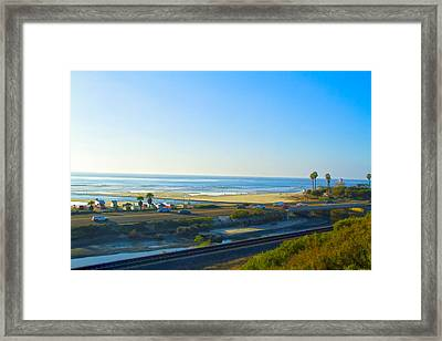 Surf Spot Cardiff Reef Framed Print by Waterdancer