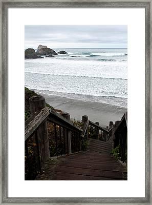 Surf Stairway Framed Print
