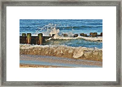 Surf Stir - Jersey Shore Framed Print by Angie Tirado