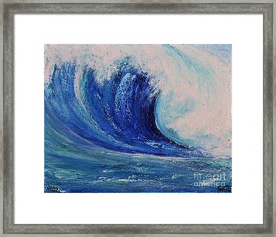 Surf Framed Print by Teresa Wegrzyn