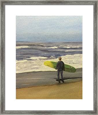 Surf Time Framed Print