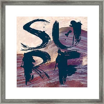Surf V1 Framed Print