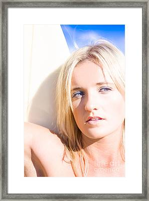 Surf Vision Framed Print by Jorgo Photography - Wall Art Gallery