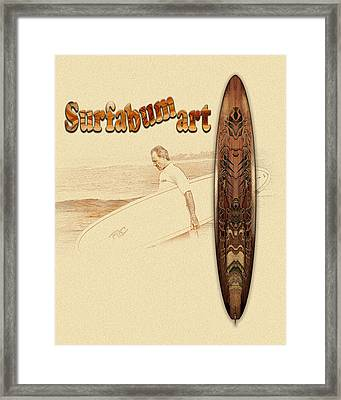 Surfabumart 10 Framed Print by Vjkelly Artwork