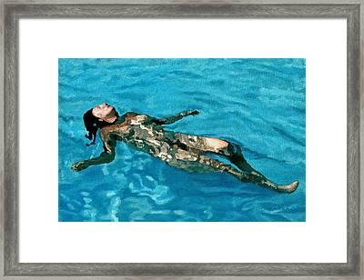 Surface Figure - Surrender Framed Print by Allan OMarra