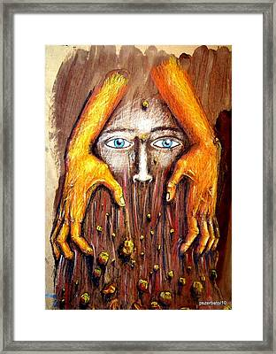 Surface Layer Framed Print by Paulo Zerbato