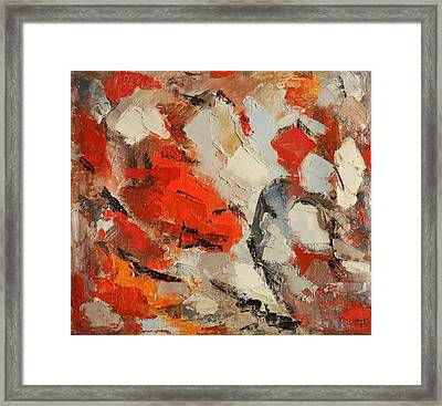 Surface Framed Print by Natia Tsiklauri