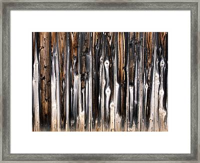 Surface Of Saturn Framed Print