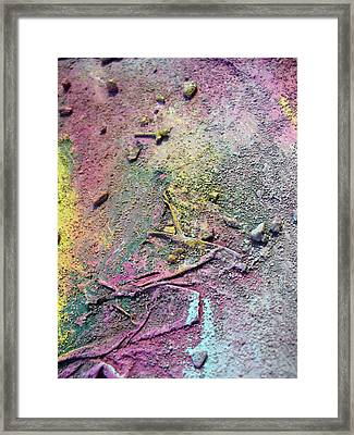 Framed Print featuring the painting Surface by Sarah Crumpler
