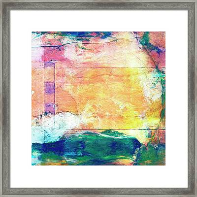 Framed Print featuring the painting Surface Vector by Dominic Piperata